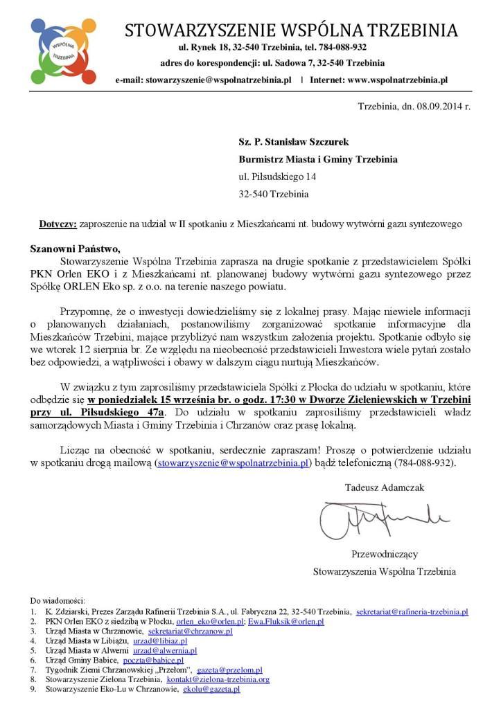 Spotkanie z PKN Orlen EKO 15.09.2014