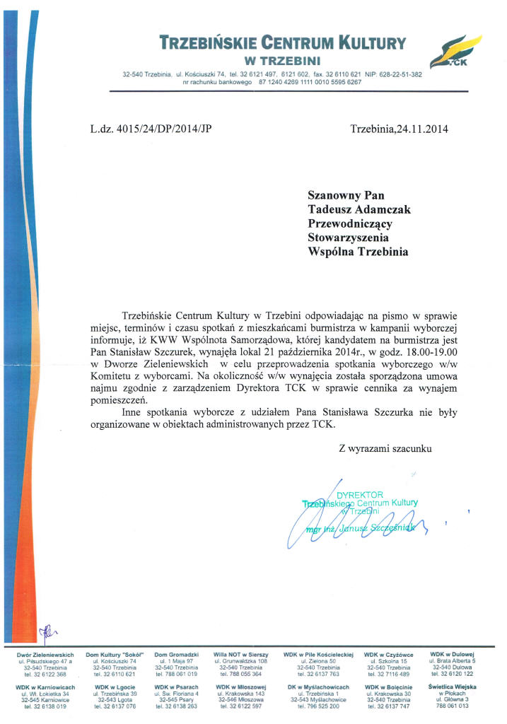 pismo od tck