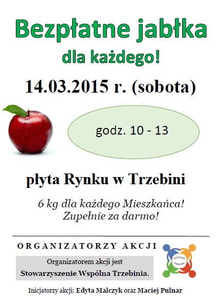 Bezpłatne jabłka_plakat