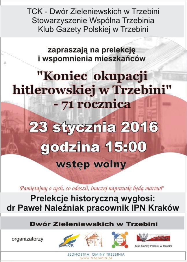 Wyzwolenie Trzebini_plakat_2016
